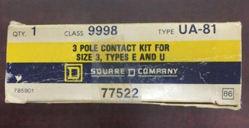 SQUARE D 9998 UA 81 3 Pole Contact Kit Size 3 Type E /& U 9998-UA-81  9998 UA-81
