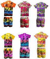 MENS HAWAIIAN SHIRT STAG BEACH HAWAII ALOHA PARTY SUMMER HOLIDAY FANCY  S -XXL