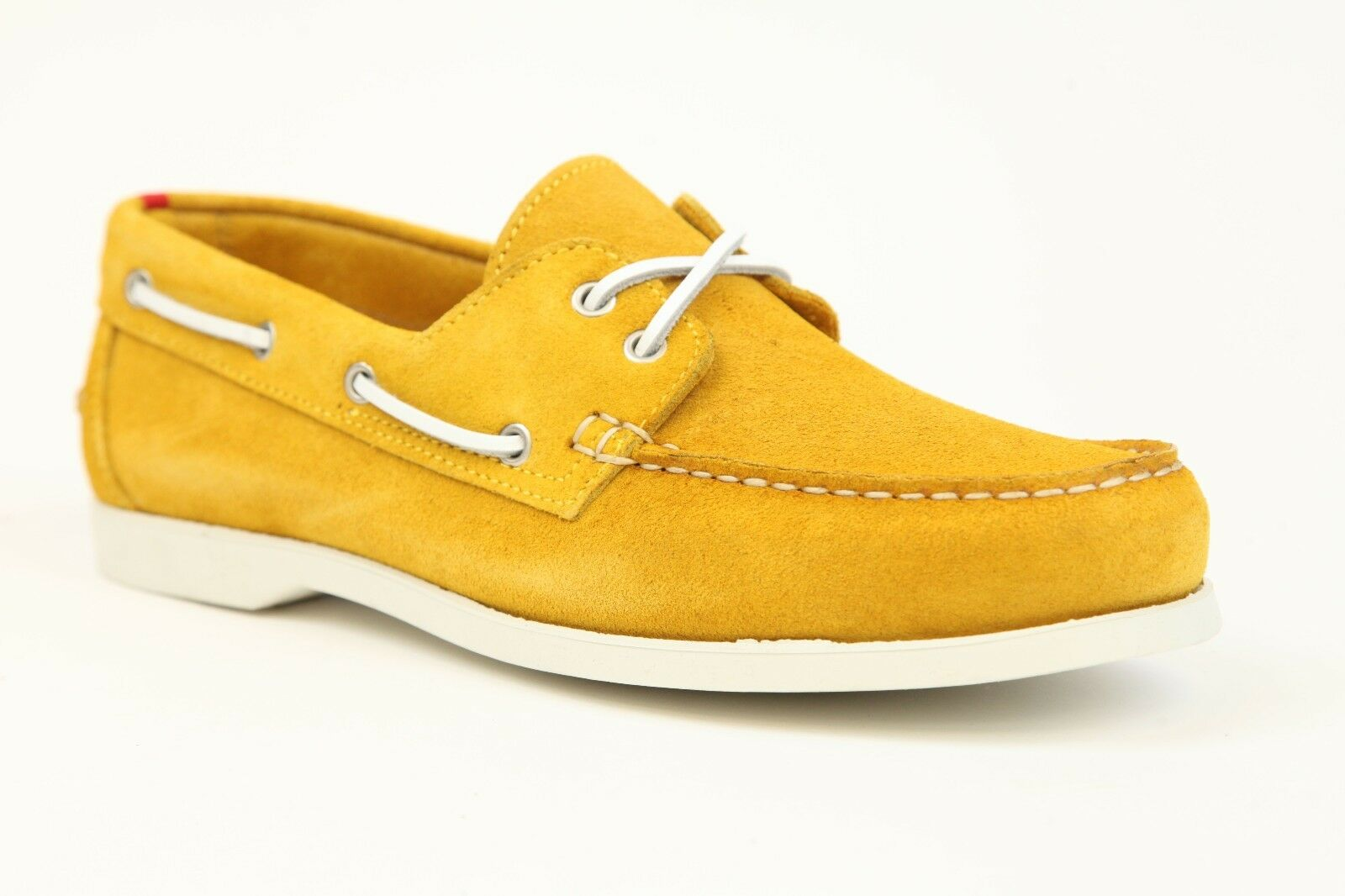 Kiton Yellow Suede Size Boat Shoes Size Suede 9 New a78b9b