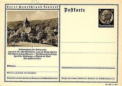 """Gelernt Wächtersbach, Ganzsache """"lernt Deutschland Kennen"""", 6 Pf Hindenburg Rheuma Und ErkäLtung Lindern"""