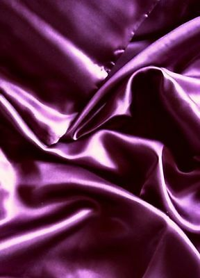Luxury 100% Mulberry silk charmeuse King fitted bottom sheet  Plum deep pocket