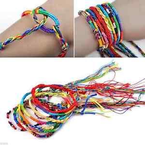 Wholesale-10-50pcs-Handmade-Braid-Strands-Bracelets-Rope-Cords-Jewelry-Making