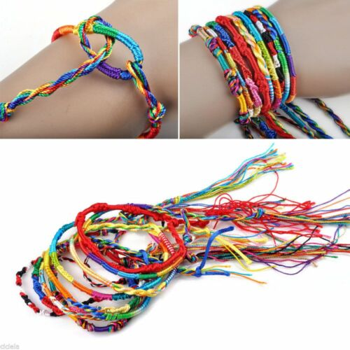 Wholesale 10//50pcs Handmade Braid Strands Bracelets Rope Cords Jewelry Making