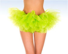 MUSIC LEGS Women's NEON Yellow/Green TUTU Costume Halloween - One Size