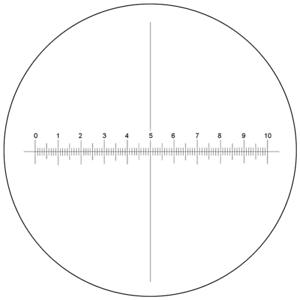 Microscope-Eyepiece-Reticle-Cross-Line-Micrometer-Ruler-X-Axis-Crosshair-Scale