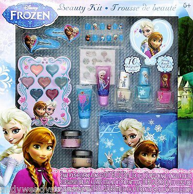 DISNEY FROZEN 12 PCS BEAUTY COSMETICS KIT SET FOR KIDS PERFECT HOLIDAY GIFT