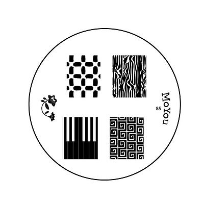 MoYou Nails Image Plate 85 Nail Art Stamping Template Stencil  Manicure design