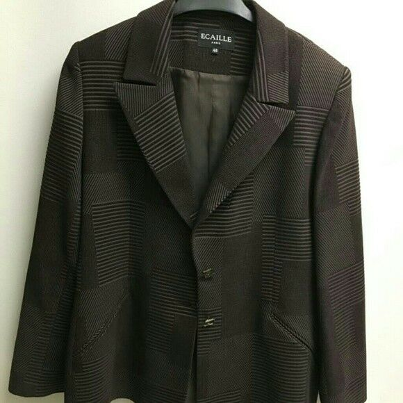 ECAILLE Paris Blazer Sz 48 (US 14)