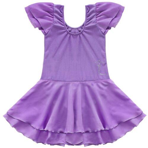 UK Kids Girls Ballet Tutu Dress Gymnastics Leotard Dance Wear Jumpsuit Costumes