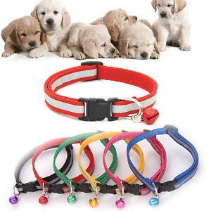 Gato-Perro-Collar-Cuello-Colgante-campana-hebilla-reflectante-Correa-de-mascotas