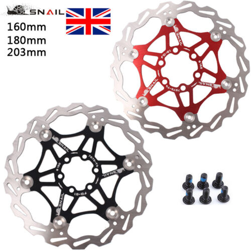Snail Bike Bicycle Disc Brake Rotor Floating MTB For SHIMANO AVID 160//180//203mm