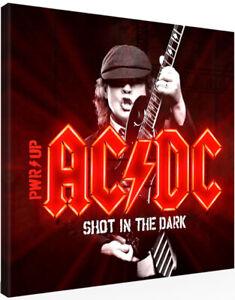 Leinwandbild 20 x 20 AC/DC PWR⚡UP SHOT IN THE DARK AC DC ACDC (0710201)