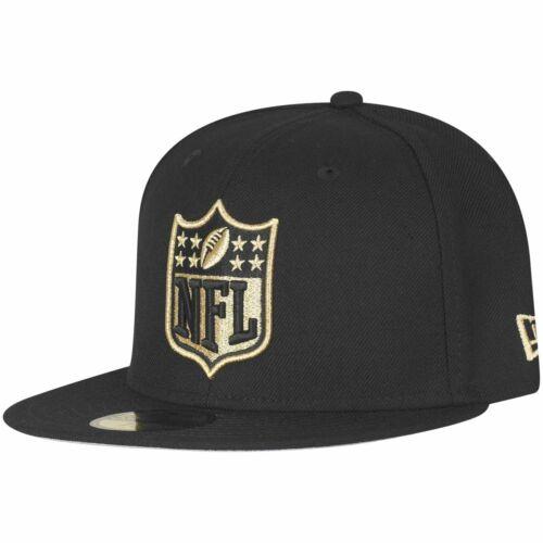 New Era 59Fifty Fitted Cap NFL SHIELD Logo schwarz gold