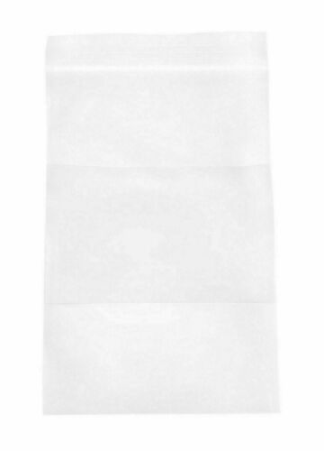 """Clear Reclosable Bags 4/"""" x 4/"""" 2 Mil Plastic Polybags w// White Block 500 pieces"""
