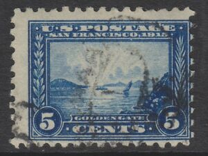 USA - 1915,5c (Perf 10) Tampon - D'Occasion - Sg