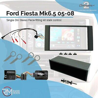 Ford Fiesta Mk6.5 Facelift Double Din Stereo Fitting Facia Kit Stalk Adaptor