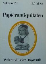 ANTIQUITÄTEN PAPIER von BOLTZ BAYREUTH 1985 auf 44 Seiten über 440 Positionen