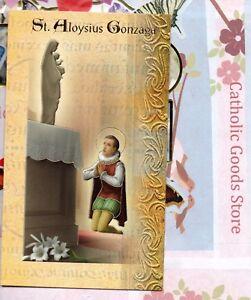 Details About Saint St Aloysius Gonzaga Biography Prayer Feast Day Etc Folder Card