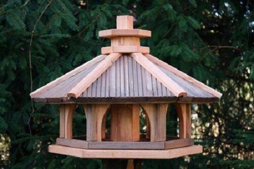 VOGELHAUS HOLZ Vogelhäuschen Vogelhäuser Vogelfutterhaus Futterspender L