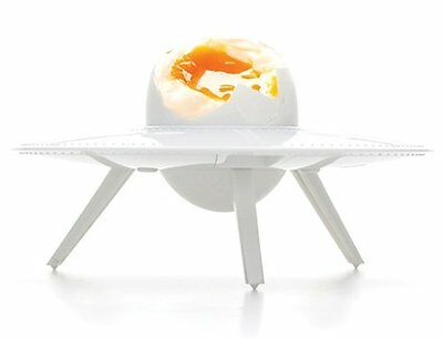 EGG 51 EGG CUP - UFO Alien Saucer BOILED EGG HOLDER Plastic WHITE