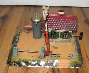 Details about Carette Prewar Wind Up Crossing Train Station House Bell  Antique Bing Marklin