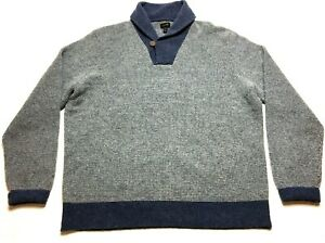 J-Crew-Mens-Gray-Long-Sleeve-Wool-Sweater-Size-XL