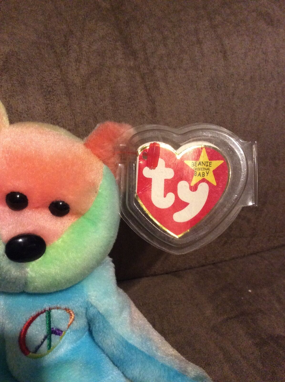 RARE Peace Ty Beanie Baby Original Original Original Collectible with Multiple Tag Errors  READ  20a195