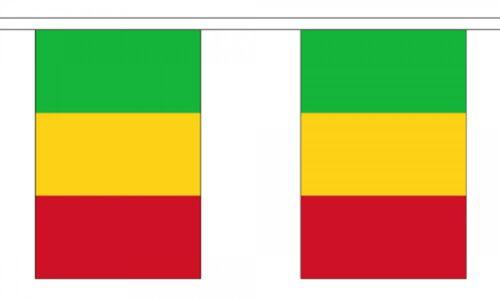 3m 6m 9m Metre Length 10 20 30 Flags Mali Flag Bunting Polyester