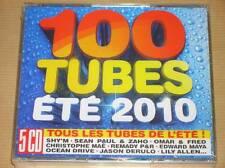 BOITIER 5 CD / 100 TUBES ETE 2010 / NEUF SOUS CELLO