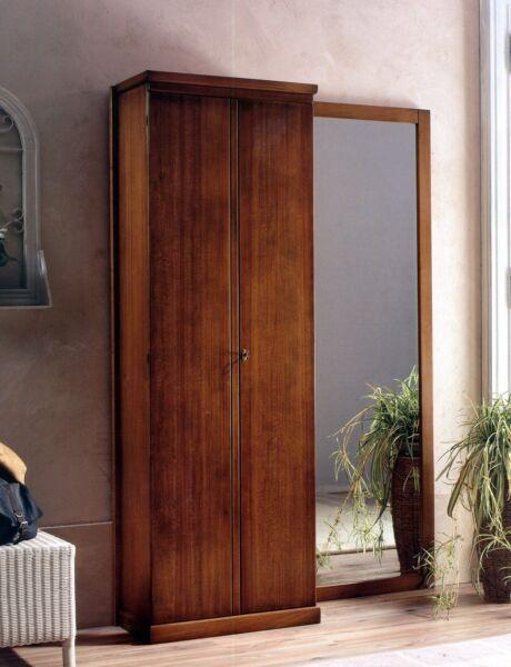 1ingresso Parete In Legno Noce Classico-specchio Appendiabiti Armadio 2 Ante T28 Essere Accorti In Materia Di Denaro