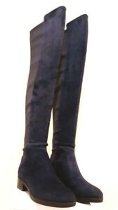 b0050e448bb  550 Tory Burch CAITLIN STRETCH Navy Blue Boot OVER THE KNEE Boots 7 ...