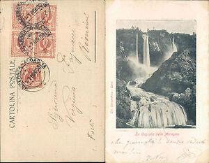 CASCATA DELLE MARMORE-TERNI -F.P.VIAGGIATA 1903  - N.40093