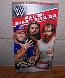 Valentines Day Cards Box 16 Wwe Wrestling John Cena With Scratch