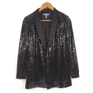 Lisa-Rinna-Collection-Stretch-Button-Front-Sequin-Blazer-Black-00-187-A351379