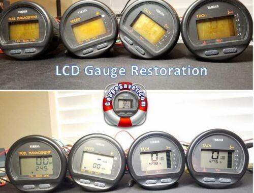 Tach Fuel Gauge LCD Restoration Service Yamaha Speed