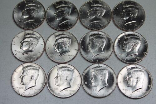 2012 2013 2014 2015 2016 2017 P /& D Kennedy Half Uncirculated Mint roll Set