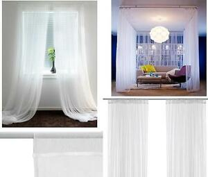 Image Is Loading Ikea White Lill Net Curtains 250cm X 280cm