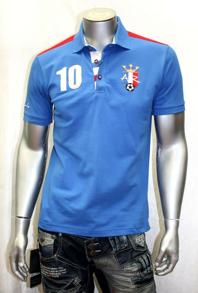 Men's FRANCE bluee Polo Soccer Shirt