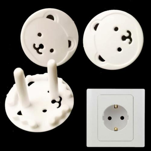 10Pcs EU Plug Socket Shock Protector Covers Baby Kids Child Safety Outlet Guard