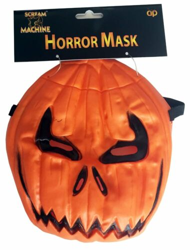 Scream Machine Branded  PUMPKIN devil Mask For Halloween party Scary