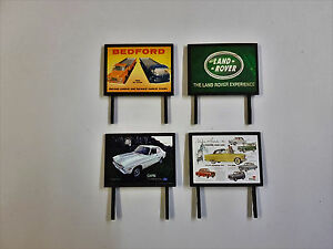 4-Model-Railway-Billboards-Posters-Trackside-Signs-OO-Gauge-Pack-45