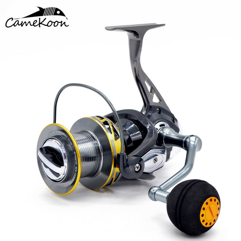 CAMEKOON Saltwater Spinning Fishing Reels Carp Pike Fishing Front Drag Spin Reel