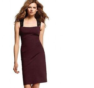 Image Is Loading Victoria Secret Moda Burgandy Ponte Dress Open Back