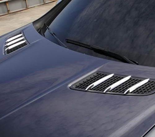 US STOCK 6x ROYAL CHROME Hood Vent Fin Grill Trims for Mercedes R172 SLK SLC AMG