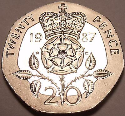 Generous Cammeo Con Prova Gran Bretagna 1987 20 Pence Other Ancient Coins Investimento ~ 89,000 Coniate ~