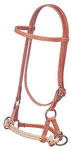 Bridle Leather Side Pull New Training Headstall Weaver