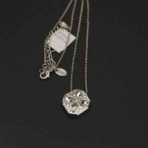 NWT-lia-sophia-jewelry-polished-silver-plated-cut-crystal-pendant-necklace-chain