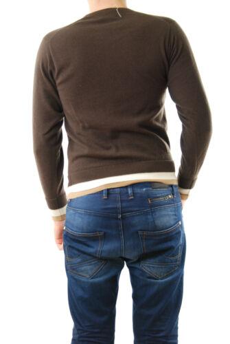 Suéter 285 D oscuro cuello hombre £ Talla S para Manga Bcf511 Rrp larga Marrón redondo con Lou RwRZrq
