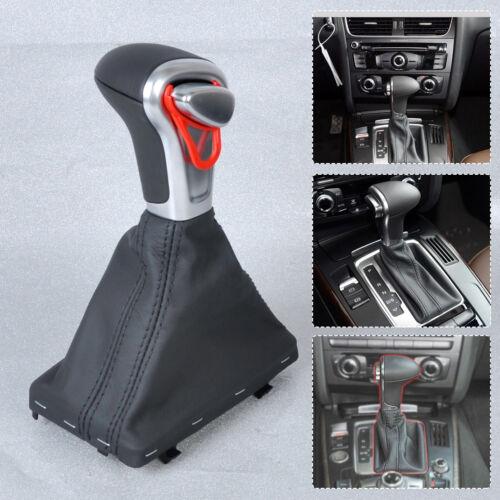 Leder Automatik Schaltsack Schaltknauf Rahmen für Audi A3 A4 A5 A6 Q7 Q5 NEU