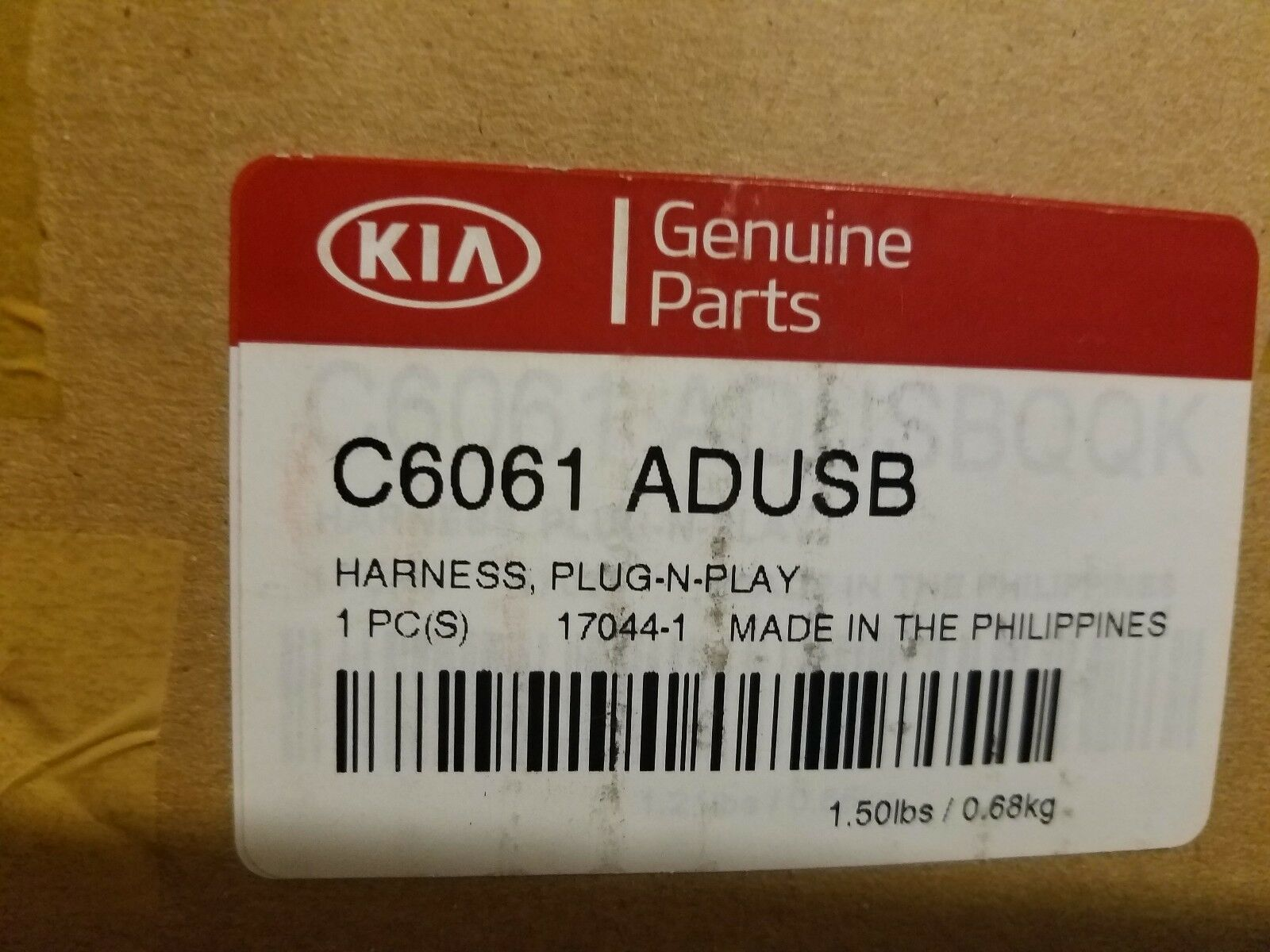 Genuine 2016 2017 Kia Sorento Tow Hitch Harness C6061 Adusb Ebay Trailer Wiring Norton Secured Powered By Verisign